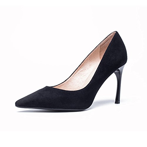 Etiquette Noir Robes Talons Dress Hauts Couleur Muma uk6 Conseils Chaussures Taille Professional Avec Eu39 De cn39 Interview Pour Rouge Femmes Travail nxYwRpv