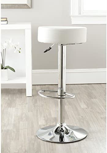 Safavieh Home Collection Jude White Adjustable Swivel Gas Lift 25.6-31.5-inch Bar Stool