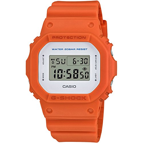 G Shock Unisex DW 5600M 4CR Orange Watch