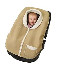 Faux Shearling Posh Pouch Infant Car Seat Cover - Fawn