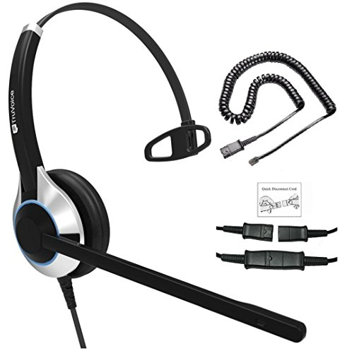 Headset Cisco Cable - Deluxe Single Ear Headset for Call Center/Office with Noise Canceling Mic & Cable for All Cisco 6000, 7800 and 8000 Series Phones and Models 7931 7940 7941 7942 7945 7960 7961 7962 7965 7970 7975