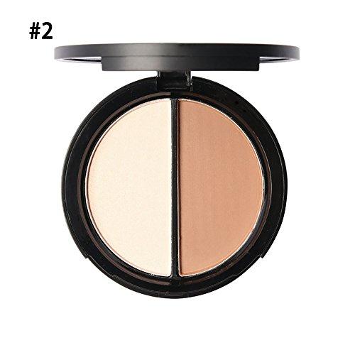 Shouhengda Makeup Blush Bronzer &Highlighter Concealer Bronzer Palette Comestic 2 Diff Color A02 -  SHD-DA0283A02