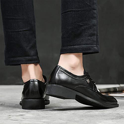 Formal Welted Hombres Para De Reales Vestir Cordones Cuero Con Derbys Moda Black Negocios Zapatos w8zqtRIxI