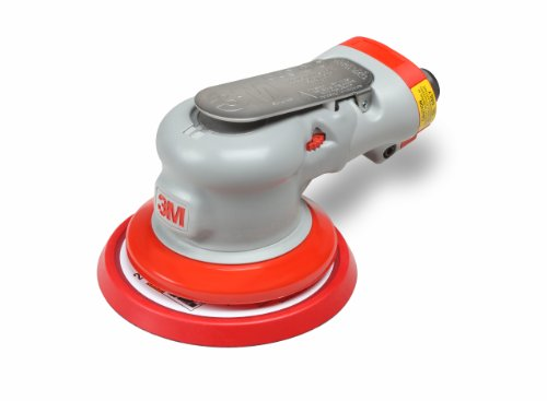 3M Random Orbital Sander - Elite Series 28497, Air-Powered, Non-Vacuum, 5 Inch, 3/16'' Orbit by 3M