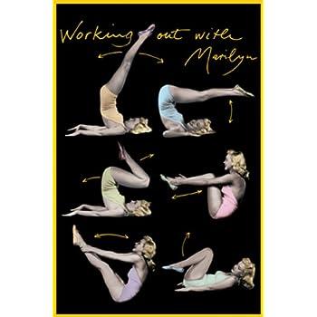 Amazon.com: Marilyn Monroe, Hollywood 1952 Art Poster ...