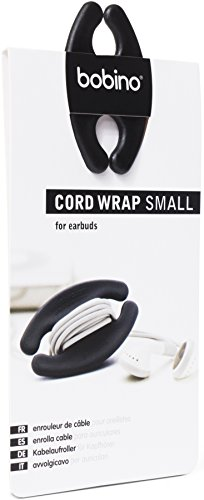 Bobino Cord Wrap - Small - Black - Stylish Cable and Wire Management / Organizer