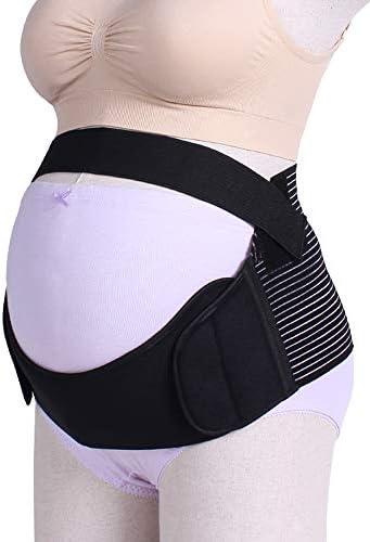 妊娠中の女性のための特別なベルトは、腰痛と秋のベルト妊娠サポートウエスト/背中/腹部バンドの腹部装具を緩和します,黒,M