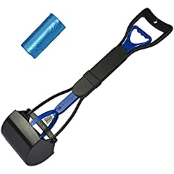 """24"""" Long Handle Pet Dog Pooper Scooper Pet Waste Cleanup Jaw Clamp Scooper with Bag"""