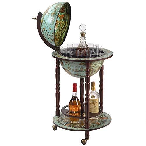 Design Toscano SJ360015 Sixteenth Century Cielo Blue Replica Globe Bar Cabinet, 36 Inch