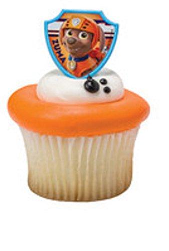 PAW Patrol Ruff Ruff Rescue 12 Cupcake Rings- Zuma ONLY