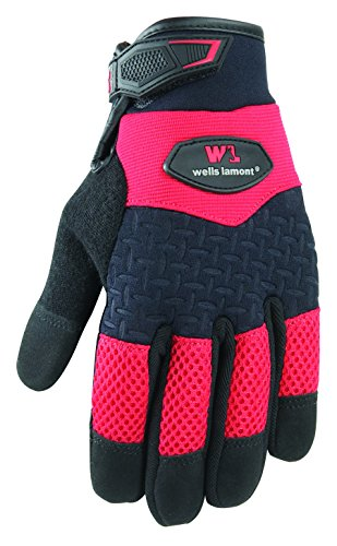 (Wells Lamont Synthetic Leather Work Gloves, High Dexterity Gripper, Large (7647L))