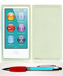 Accessory Factory(TM) Bundle (the item, 2in1 Stylus Point Pen) NANO 7 Crystal Skin Clear Case Cover Protector
