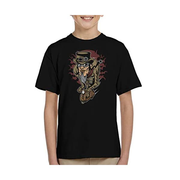 Coto7 Steampunk Scooterman Kid's T-Shirt 3