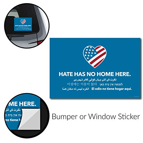 [해외]Signs Of Justice Hate Has No Home Here Bumper Sticker (6x4.5) - wProtective Gloss Finish / Signs Of Justice Hate Has No Home Here Bumper Sticker (6x4.5) - wProtective Gloss Finish