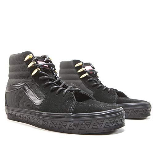 (Vans Unisex Marvel Black Panther Sk8-Hi Black Panther/Black Sneaker - 9.5)
