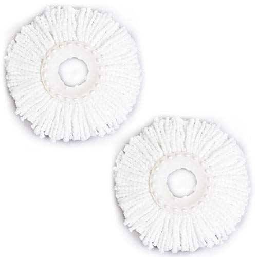 Goplus 2 Pieces Mop Replacement Head Spin Microfiber Magic Mop Refill 360° Spinning