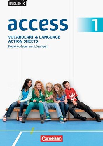 english-g-access-allgemeine-ausgabe-band-1-5-schuljahr-vocabulary-and-language-action-sheets-kopiervorlagen-mit-lsungen