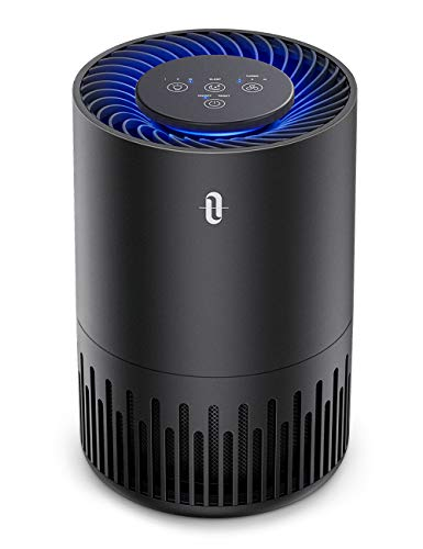 TaoTronics HEPA Air Purifier for Home, Allergens Smoke Pollen Pets Hair, Desktop Air Cleaner with True HEPA Filter, Sleep Mode, Night Light, Odors Dust Mold, Bedroom Office