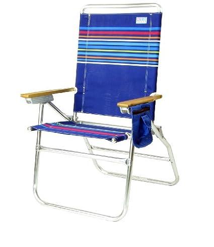amazon com rio brands high boy 7 position beach chair solid