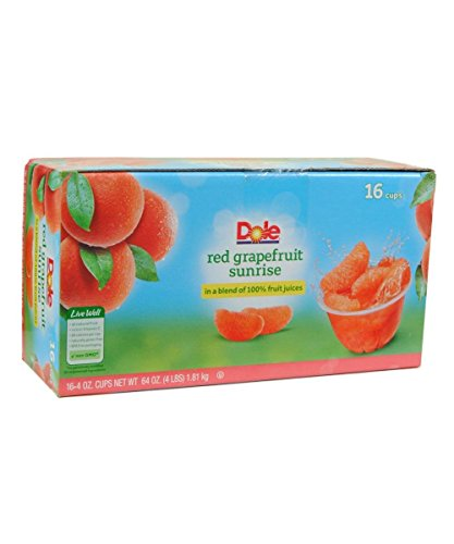 - Dole Red Grapefruit Sunrise Fruit Cups, 64 Ounce