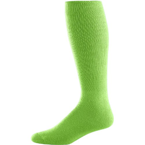 Joe's USA All Sport Game Socks - Medium 8-10 Lime Green