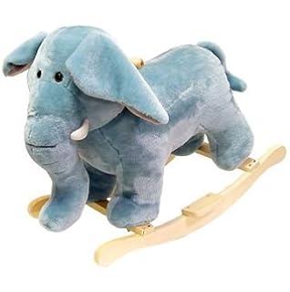 happy trails plush elephant rocking animal baby nursery cool bee animal rocking horse