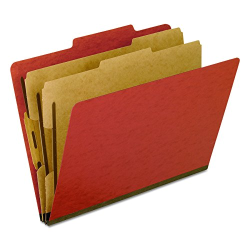 2 Pressboard Divider (Pendaflex Classification Folders, 2/5 Cut, 2 Dividers, Letter Size, Brick Red, 10 Per Box (1257R))