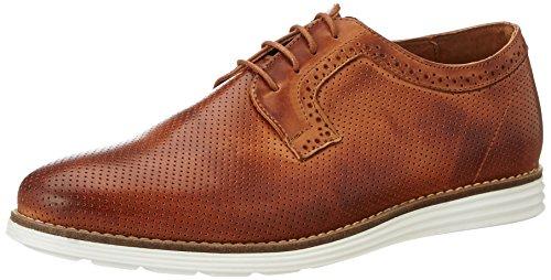 neoneo Lexe, Zapatos de Cordones Derby para Hombre Marrón (Cognac)
