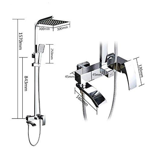 Gowe shower faucet set bronze bathtub faucet mixer tap waterfall wall shower head chrome Bathroom Shower set 3