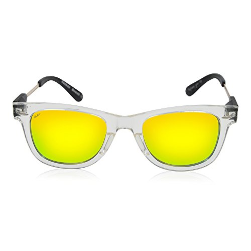 Shaka's Hawaii- Wayhi cut- Customizable Hawaiian sunglasses (F-Clear. L-Yellow. - Sunglasses Your Customize Own