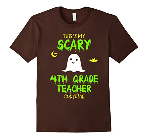 Costume 4th Halloween Ideas Grade (Mens Scary 4th Fourth Grade Teacher Costume Halloween T-Shirt 3XL)
