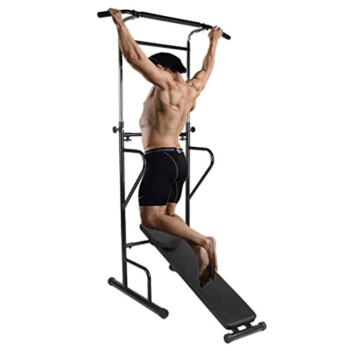 Power Tower Pull-Up Device Training Push-Up Station for Home Gym Exercise by Belovedkai