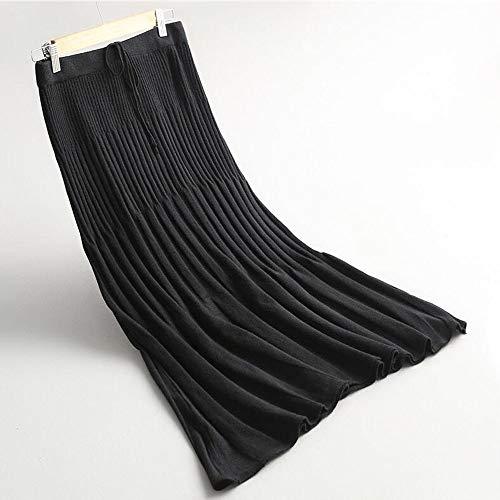 Elástica De Las Swovq Delgadas Falda nbsp; Cintura Largas Otoño Plisadas Mujeres Talla nbsp;falda Faldas Lápiz De Alta Mujeres nbsp;faldas nbsp;punto Única FTYcrZYW