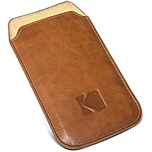 Kodak Ektra Phone Leather Pouch - Brown/Yellow