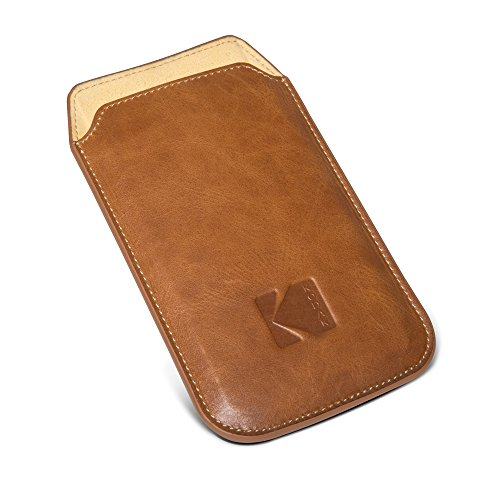 Kodak Ektra Phone Leather Pouch - Brown/Yellow