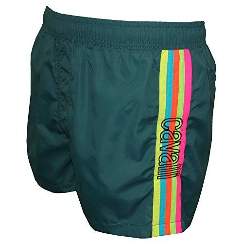 Just Cavalli Rainbow Side Stripe Men's Swim Shorts, Teal Blue Large Teal Blue by Just Cavalli