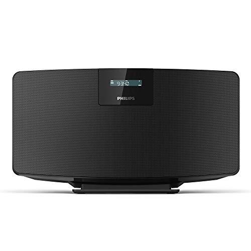 Radio DAB + Philips M2505/10 radio numérique (DAB+/UKW, Bluetooth multipairing, entrée audio 3,5 mm, diaphragmes 2,75 pouces full-range, 10 W) noir (modèle 2020/2021)