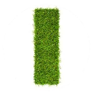 alfombrilla de ratón Carta que hizo de la hierba verde aislado en blanco - ronda - 20cm