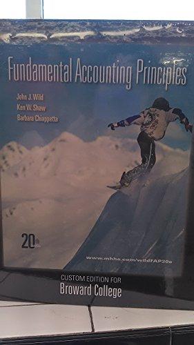 Fundamental Accounting Principles, Custom Edition for Broward College