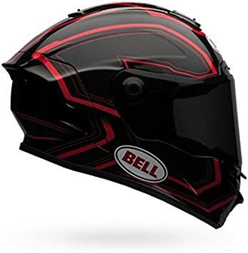Amazon.es: BELL Star motocicleta casco ritmo negro/rojo (medio)