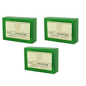 Khadi Natural Neem Tulsi Soap, 125g (Pack Of 3) 126