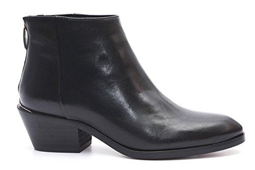 Alpe 30862005 Smart Black Leather Ankle Boots JxcsrM
