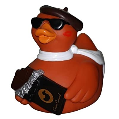 CelebriDucks Cocoa Canard Chocolate Lover's Rubber Duck Bath Toy: Toys & Games