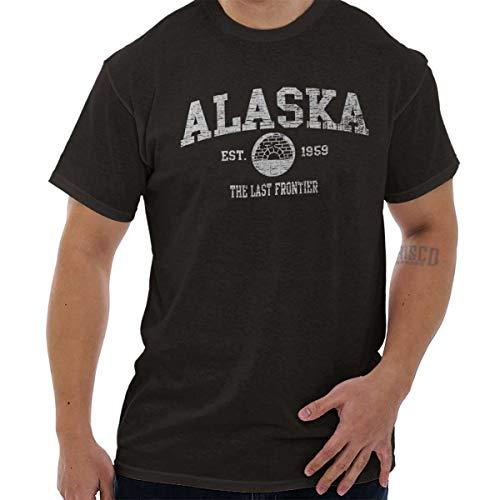 Est Chocolate - Alaska State EST Vintage Retro Hometown T Shirt Tee Dark Chocolate