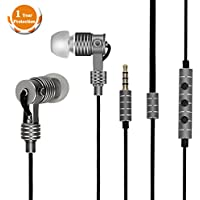 Joyplus Earbuds In-Ear Headphones Dynamic Balanced Armature IEM Earphones Noise Canceling HiFi Bass with Microphone&Volume Control for iOS/ Android Computer