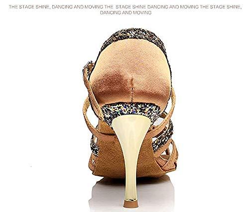 femmes de sandale longueur pied de bas souple latine chaussures gris 8cm9 de danse 24 Zhrui marron 8inch de couleur pour longueur qXw7080