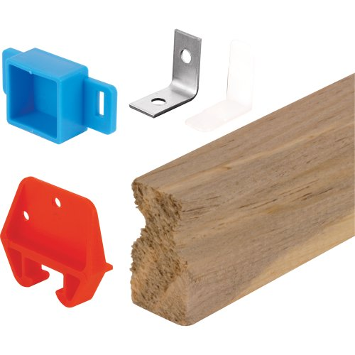 Prime-Line Products R 7144 Wood Drawer Track Repair Kit, 24 in, Wood/Plastic/Steel Components (Wood Component)