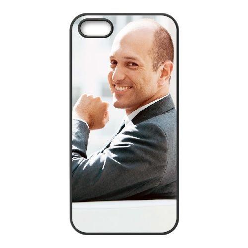 Man Smile Laptop coque iPhone 5 5S cellulaire cas coque de téléphone cas téléphone cellulaire noir couvercle EOKXLLNCD25733