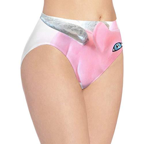 GREEDCLOUD Women's Bikini Pink Piggy Bank Seamless Panties Fashion Briefs for Lady/Girls XL (Piggy Bank Dolphins)