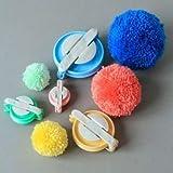 Zetti 4 Sizes Pompom Pom-pom Maker for Fluff Ball DIY Wool Knitting Craft Tool Set